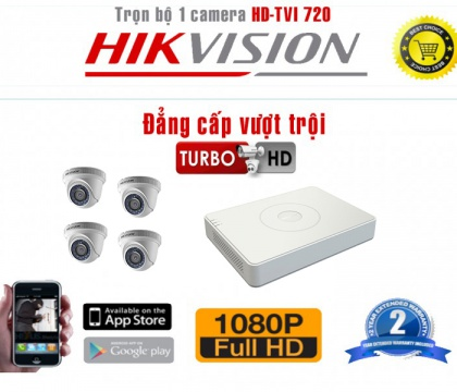 Bộ camera HD -TVI 720 x 4 Doom